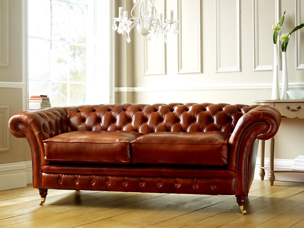 Buttoned Seat Chesterfield Sofa Or Cushioned Seat For Chesterfield Sofas And Chairs (View 6 of 15)