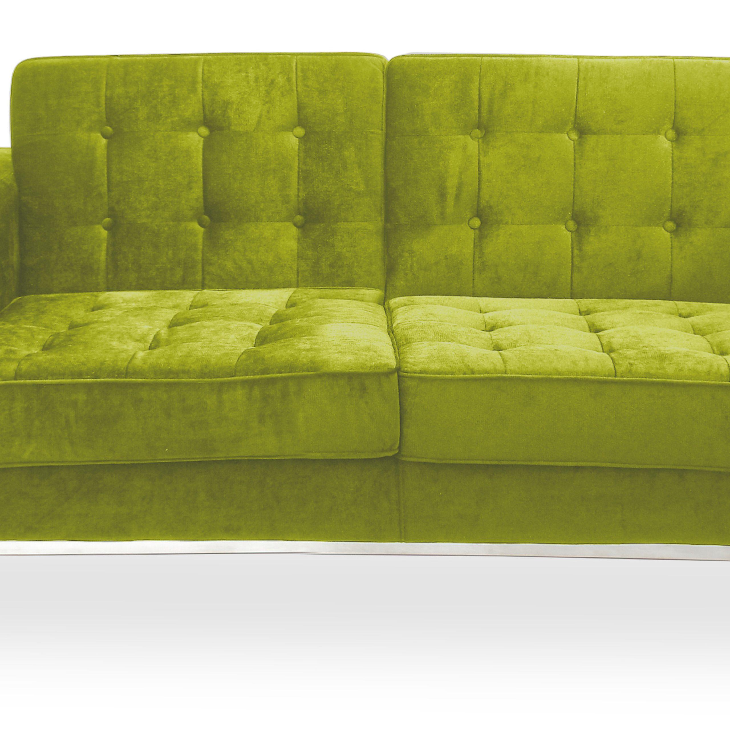 Buy 2 Seats Sofa Florence Knoll Style – Fabric Black 13241 Within Florence Knoll Fabric Sofas (View 7 of 15)