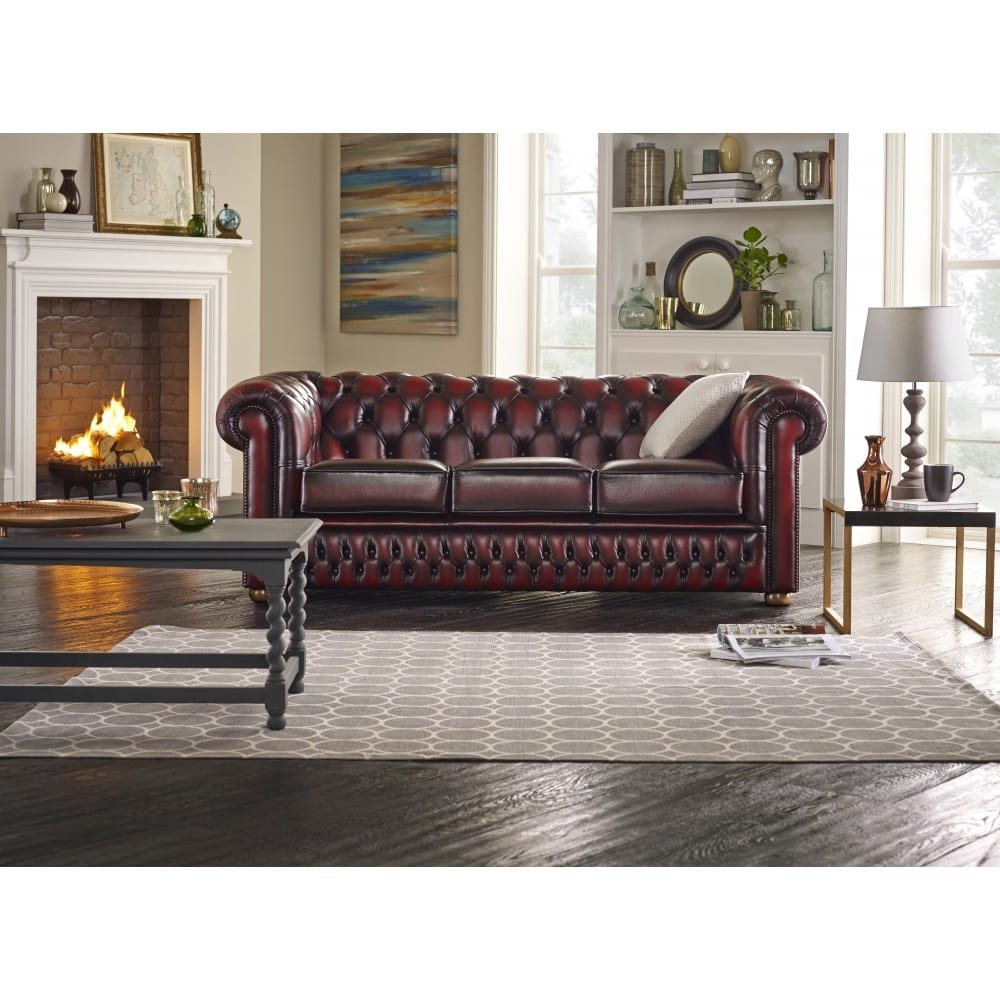 Buy A 2 Seater Chesterfield Sofa At Sofassaxon Regarding Chesterfield Sofas (View 3 of 15)