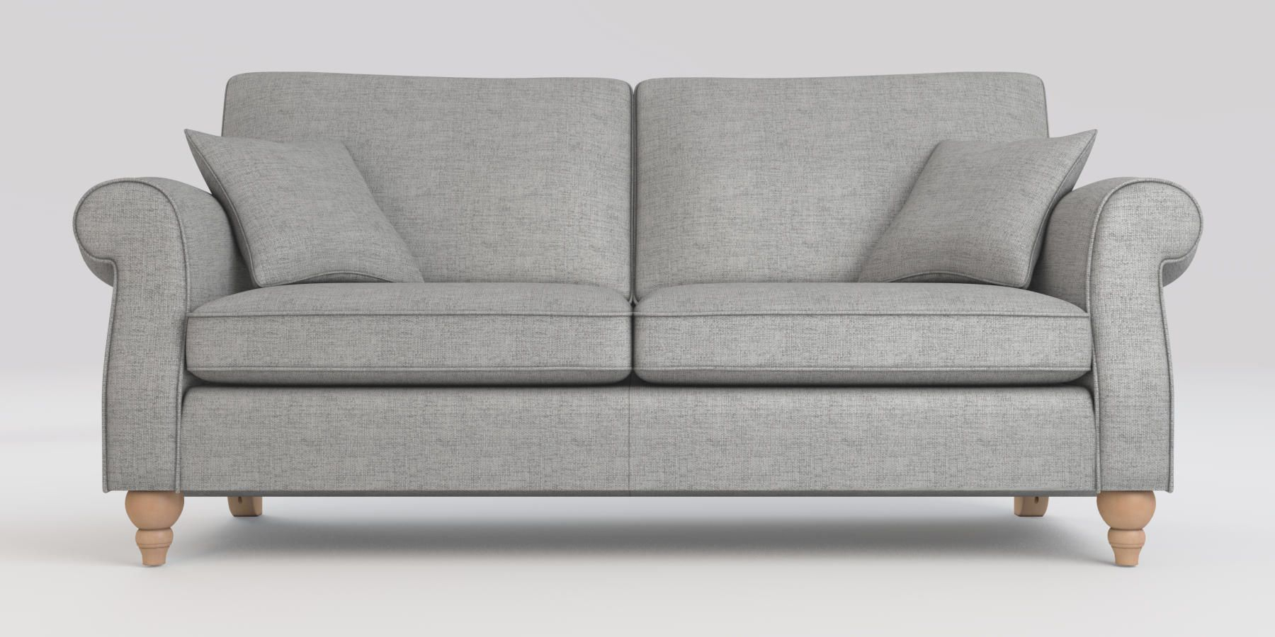 Buy Ashford Firm Sit Large Sofa (3 Seats) Textured Weave For Calvin Concrete Gray Sofas (View 13 of 15)