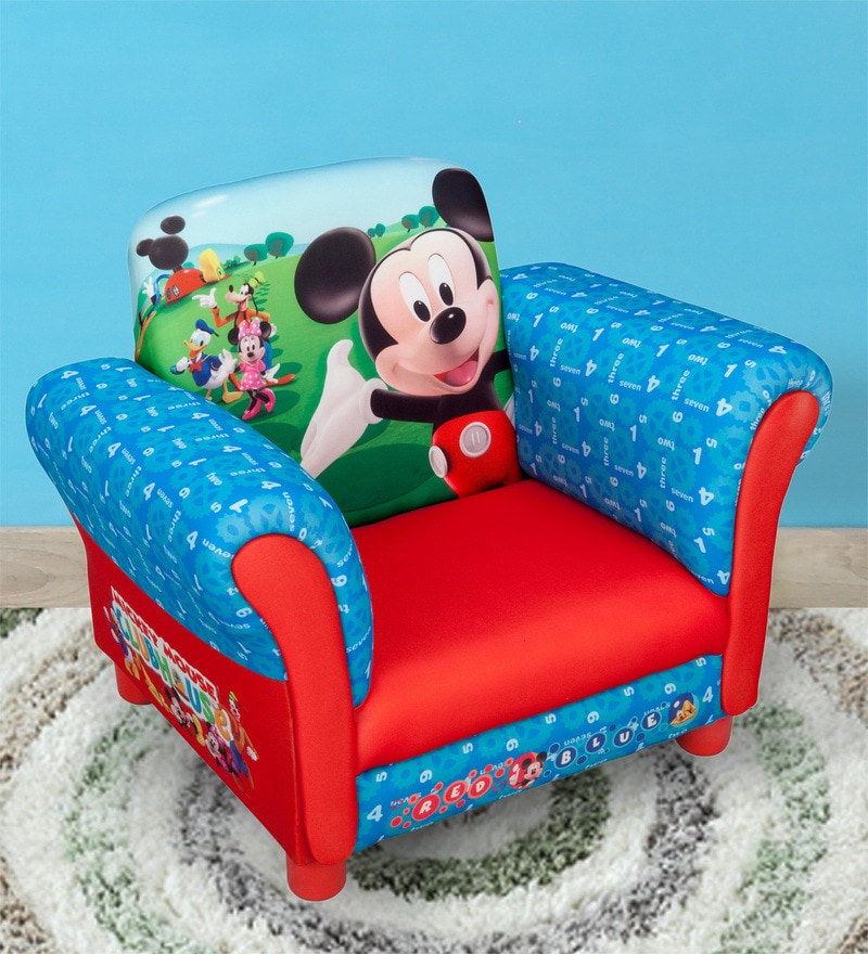 Buy Disney Mickey Mouse Hardwood Upholstered Chair In Within Disney Sofa Chairs (View 11 of 15)