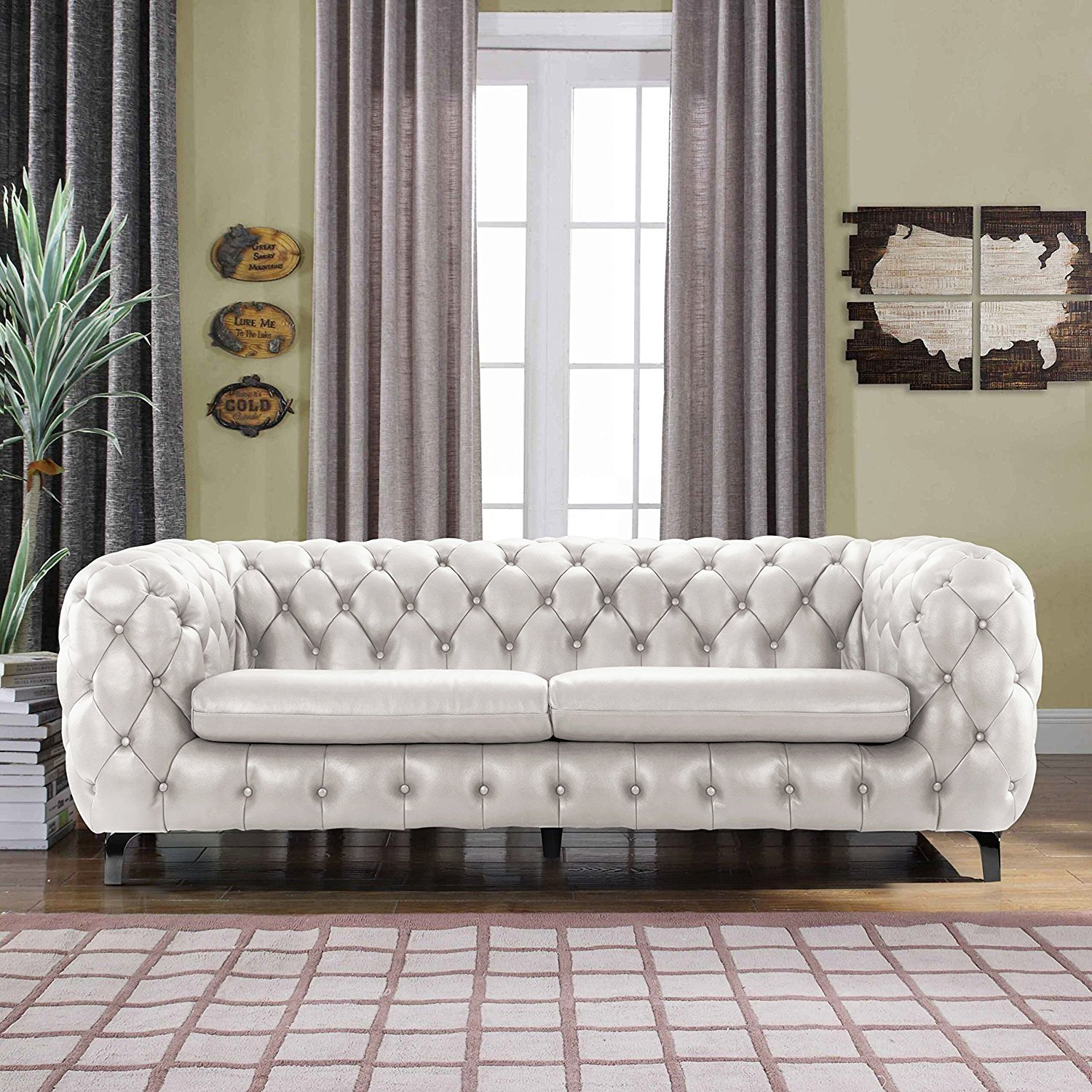 Buy Fh 5328 Fully Tufted Chester Sofa Online At Discount Regarding Sofas And Chairs (View 8 of 15)