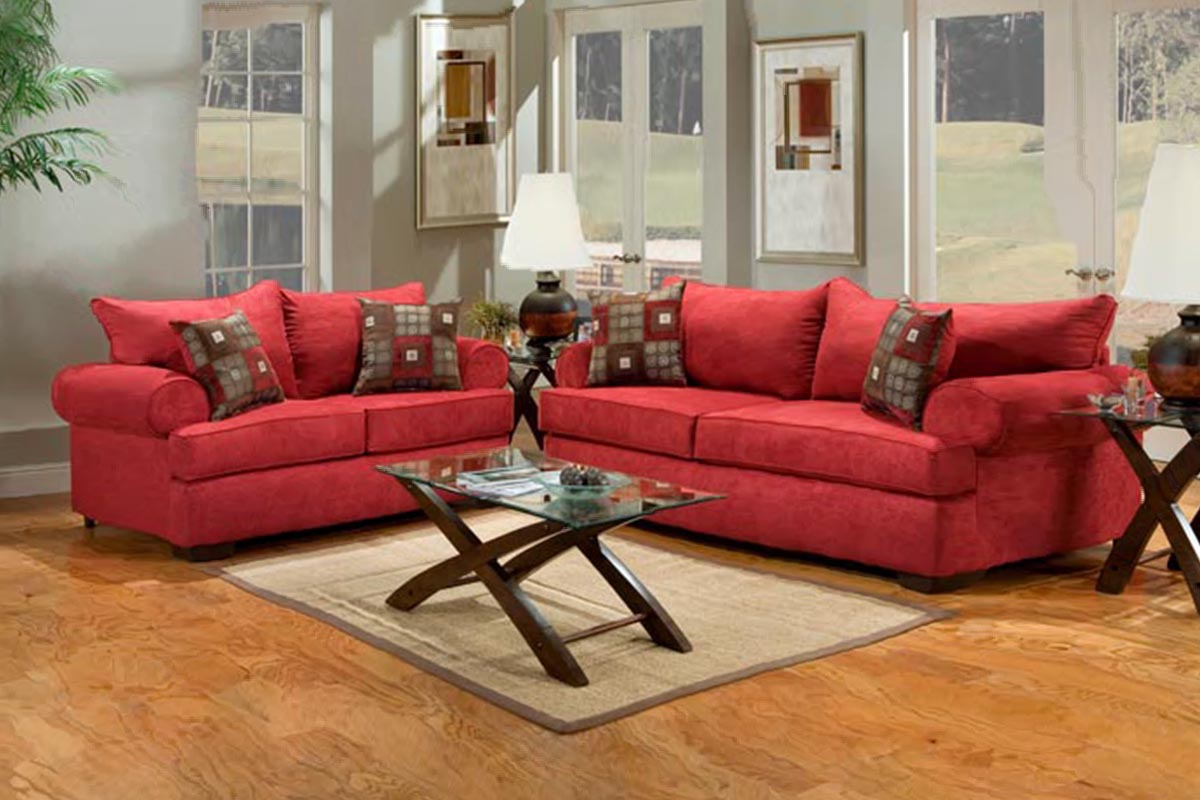 Buy Red Fabric Sofa Set In Lagos Nigeria With Regard To Red Sofas (View 14 of 15)