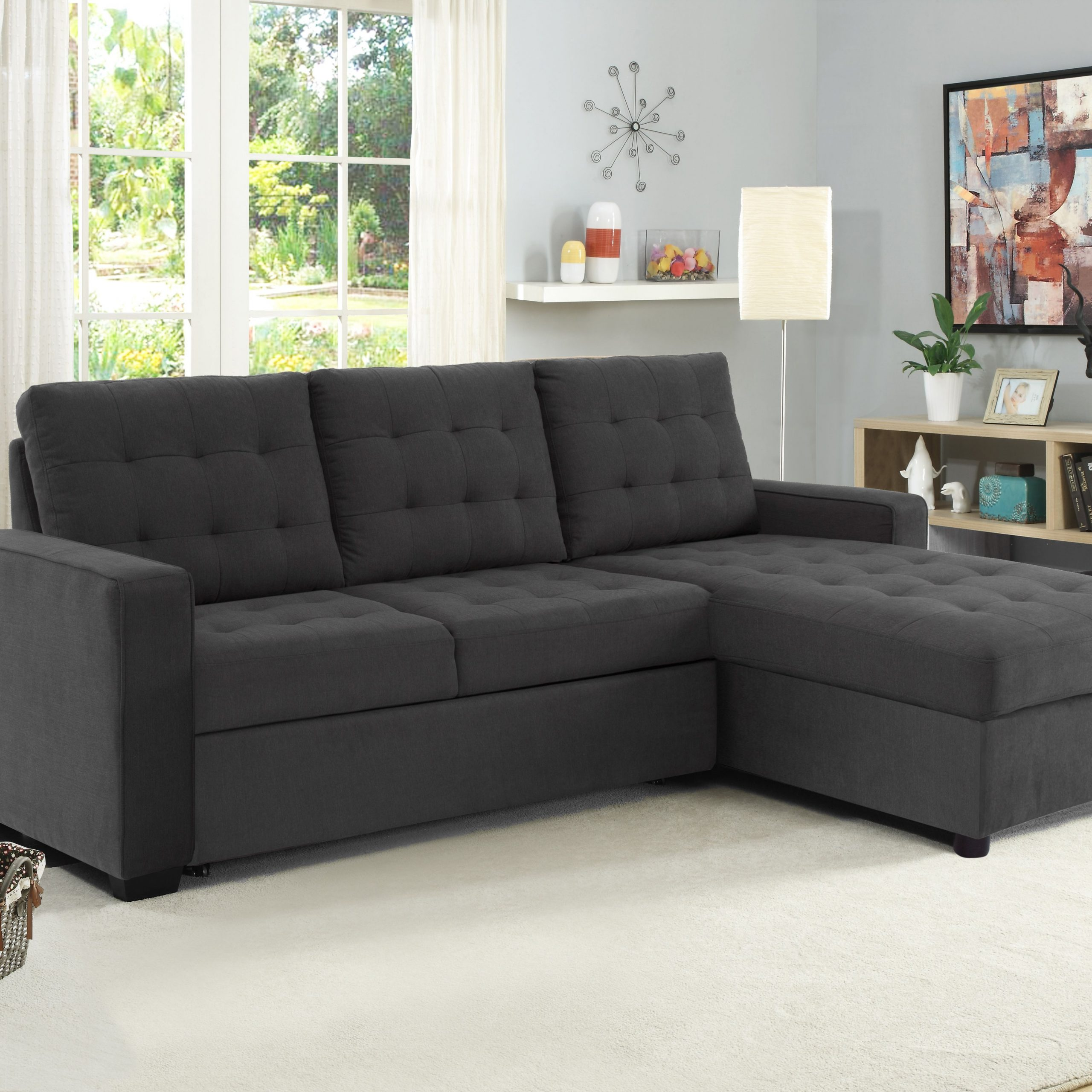 Buy Serta Bostal Sectional Sofa Convertible: Converts Into Inside Live It Cozy Sectional Sofa Beds With Storage (View 2 of 15)
