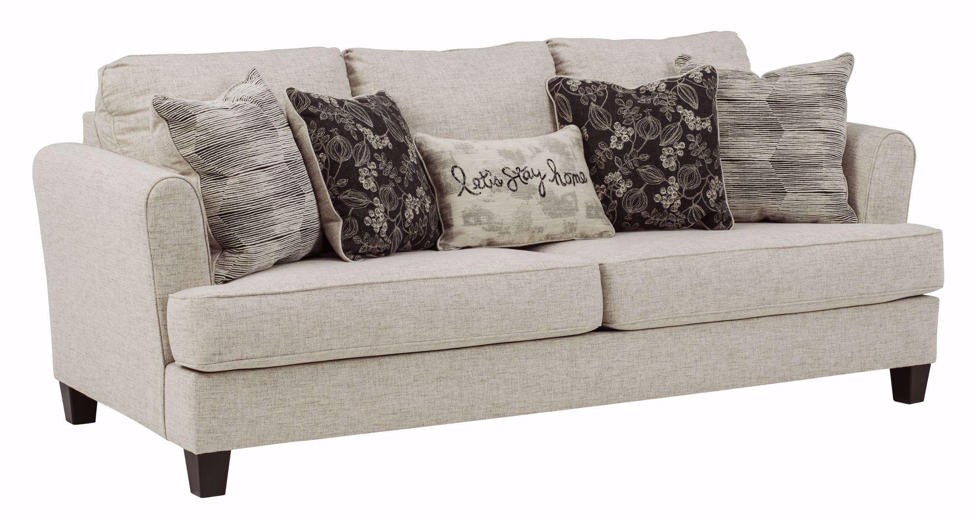Callisburg Linen Sofa   The Furniture Mart Inside Gneiss Modern Linen Sectional Sofas Slate Gray (View 3 of 15)