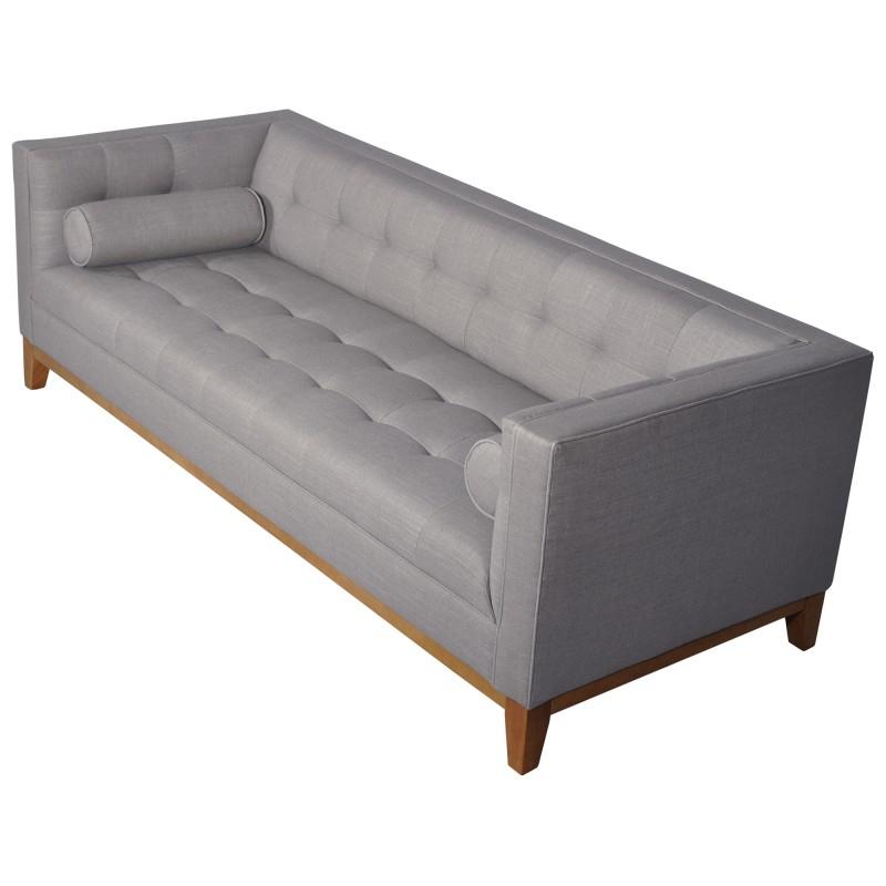 Calvin Fabric Sofa, 3 Seater, Cadet Grey Within Calvin Concrete Gray Sofas (View 1 of 15)