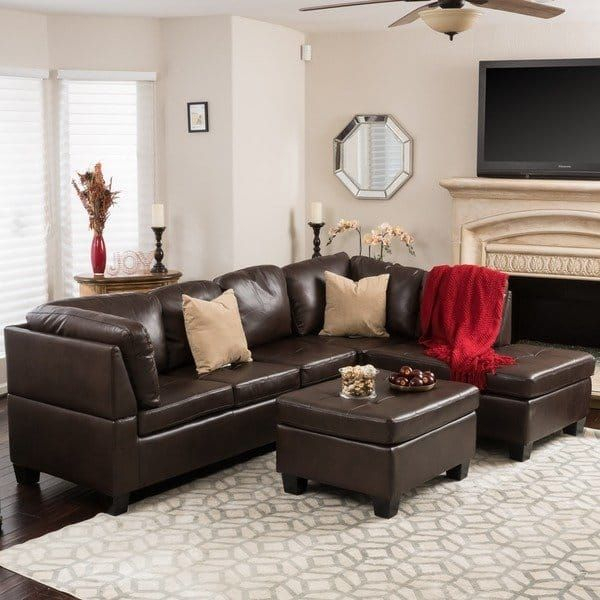Canterbury 3 Piece Pu Leather Sectional Sofa Set For Canterbury Leather Sofas (View 6 of 12)