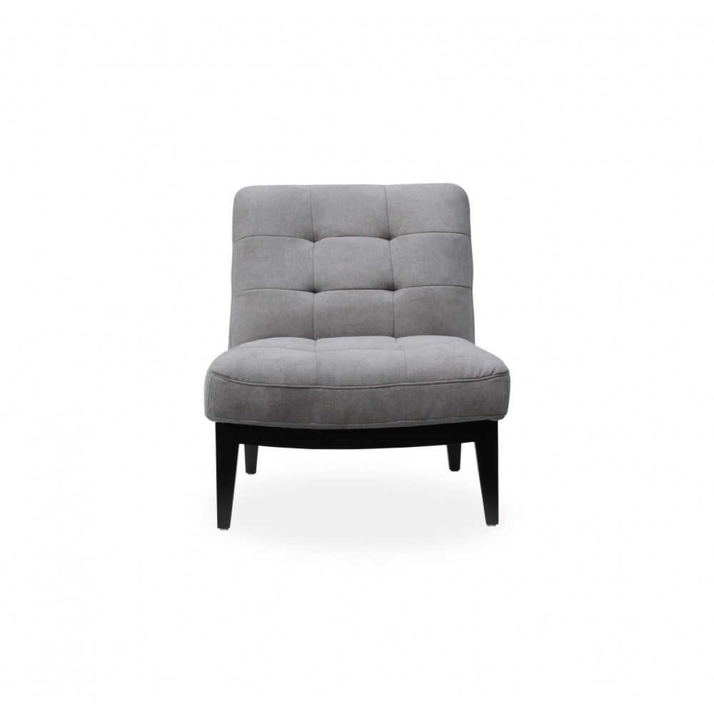 Canyon Lounge Chair Light Grey Fabric Regarding Antonio Light Gray Leather Sofas (View 7 of 15)