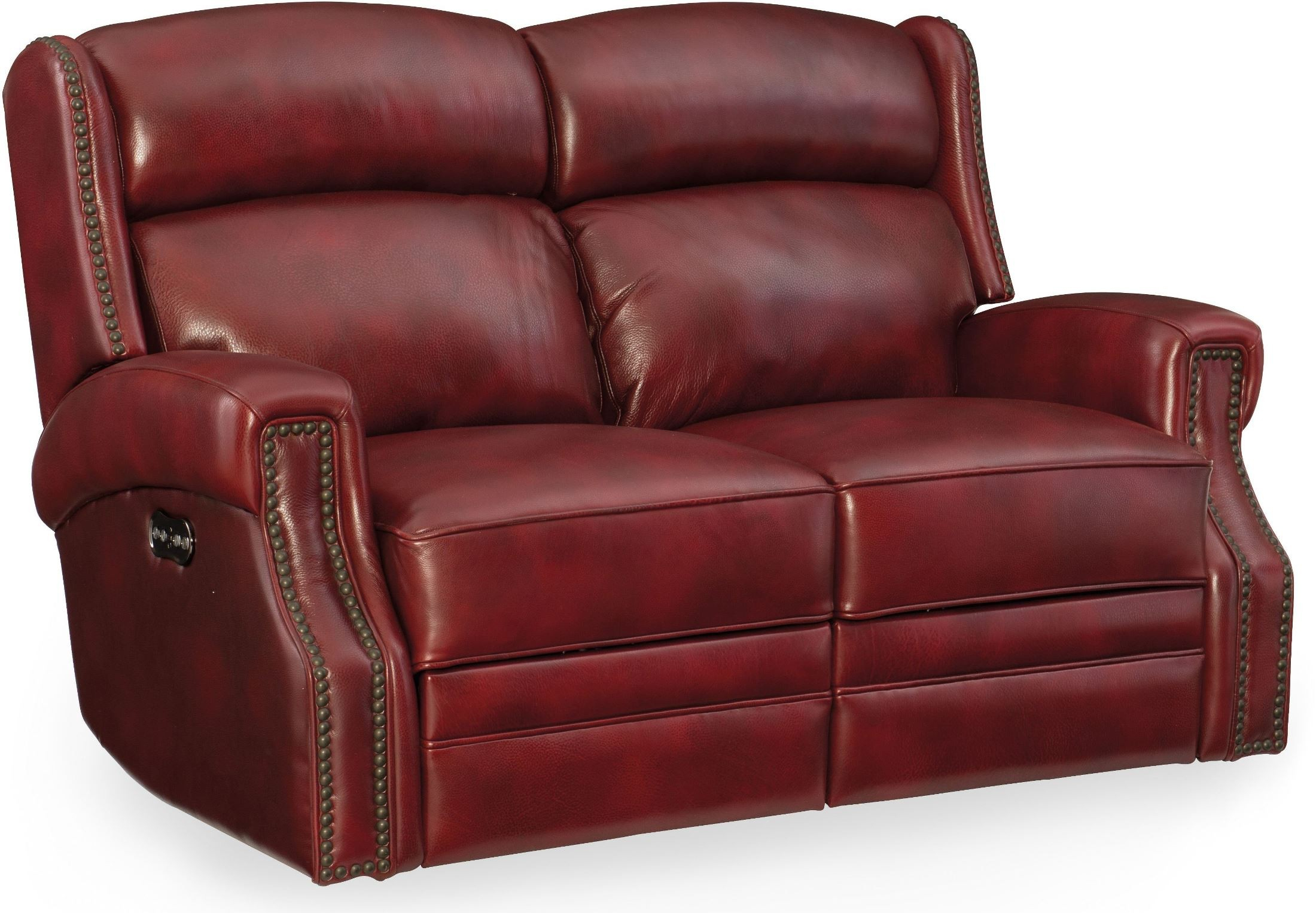 Carlisle Red Leather Power Reclining Loveseat With Power Regarding Nolan Leather Power Reclining Sofas (View 1 of 15)