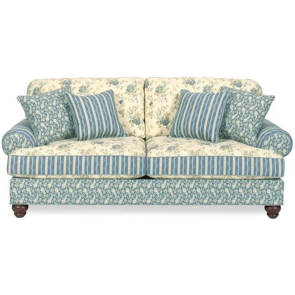 Carolines Cottage Country Blue Sofa ($714) Found On Pertaining To Cottage Style Sofas And Chairs (View 15 of 15)