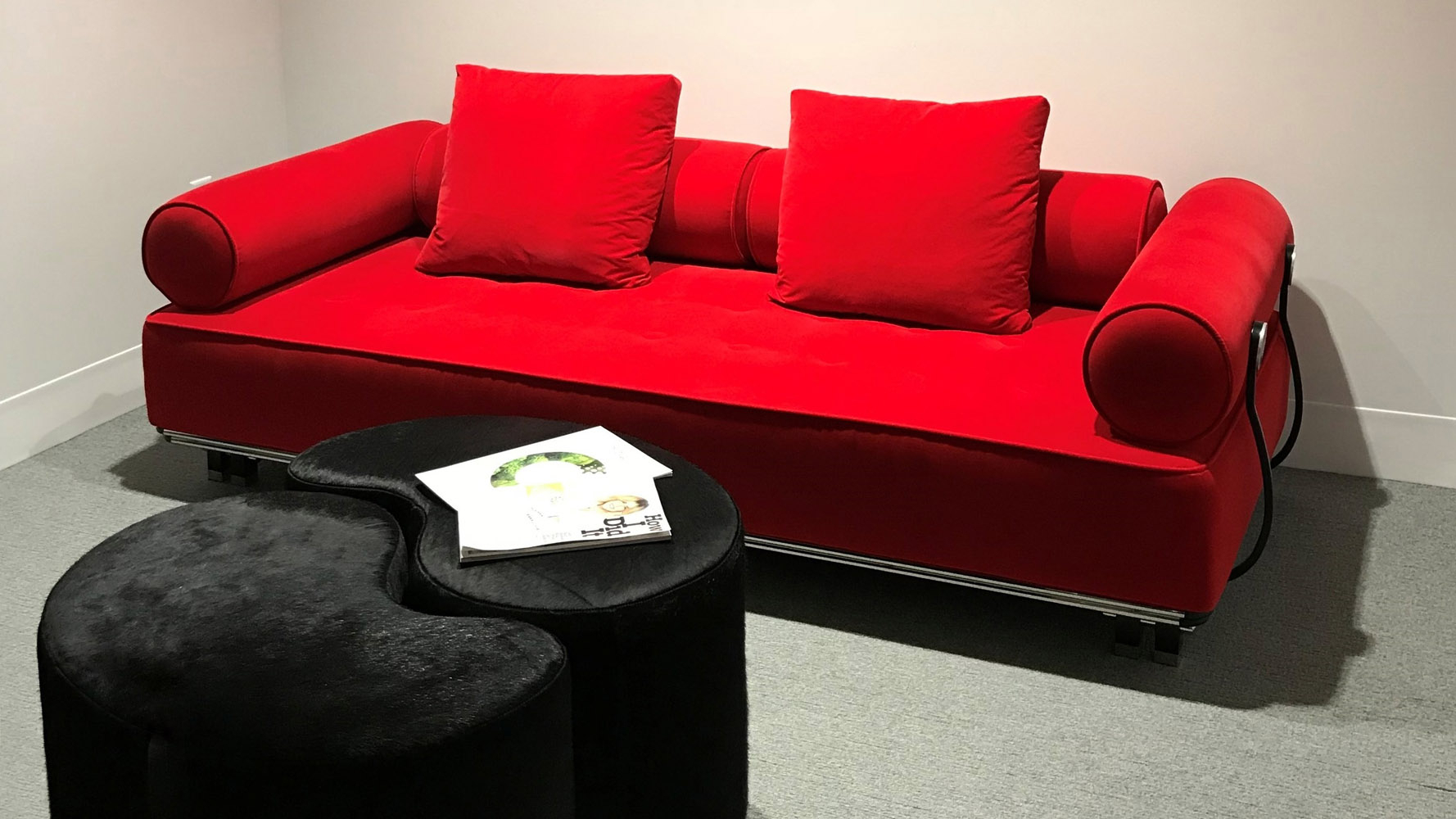 Carrera Modern Fabric Sofa – Red | Zuri Furniture Within Red Sofas (View 12 of 15)