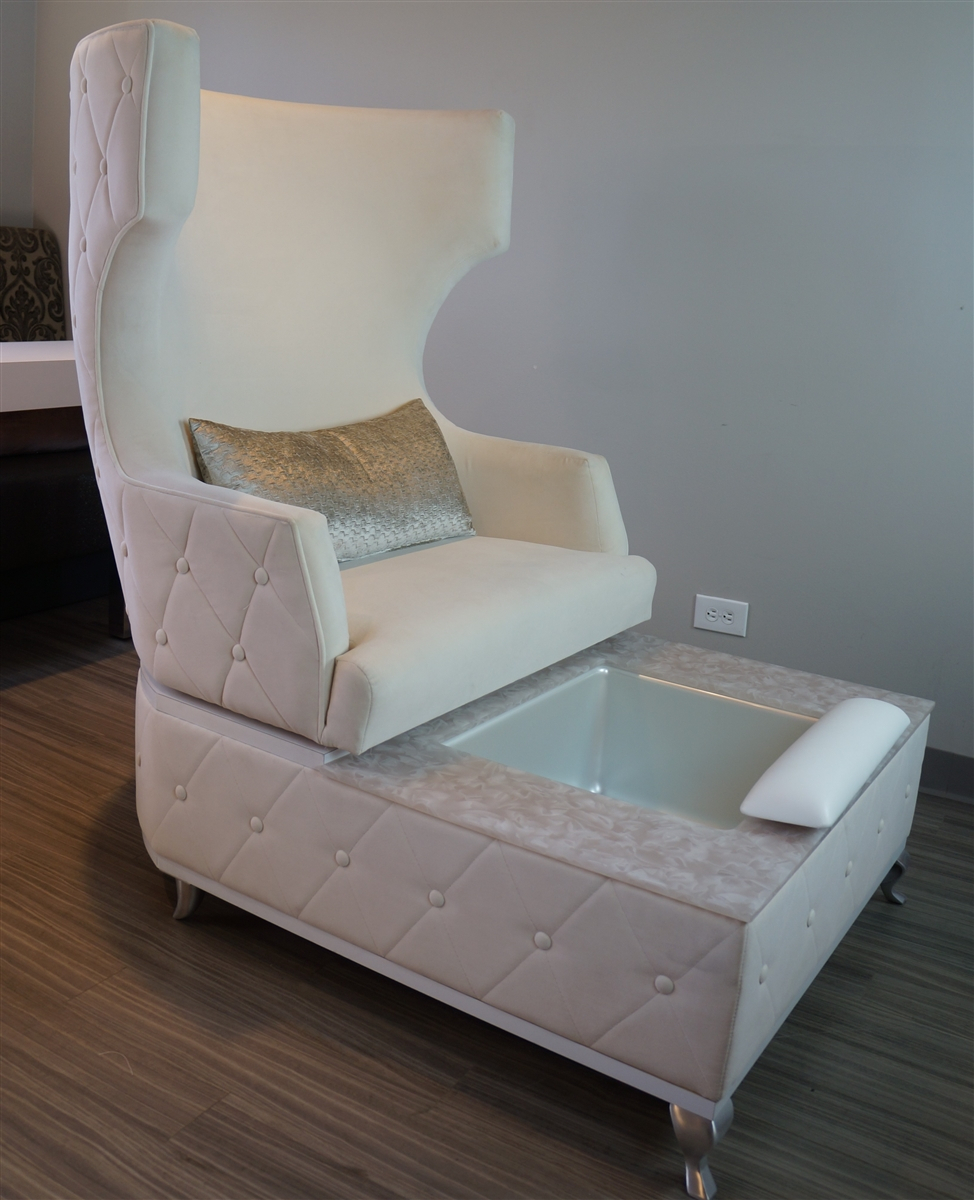 Carrie Swivel Pedicure Chair – Michele Pelafas Pertaining To Sofa Pedicure Chairs (View 4 of 15)