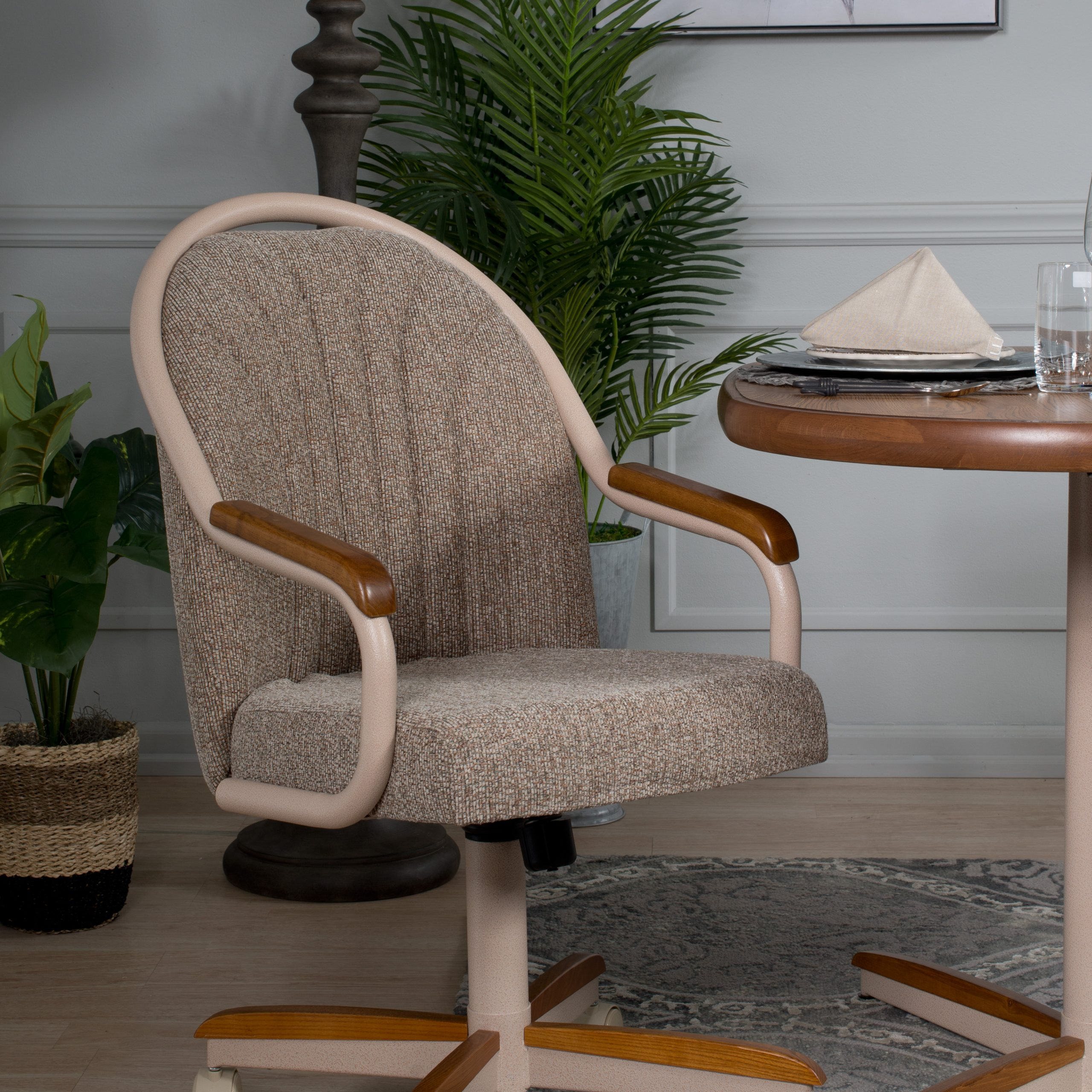Caster Chair Tilt Rolling And Swivel Casual Dining Chair Intended For Casual Sofas And Chairs (View 14 of 15)