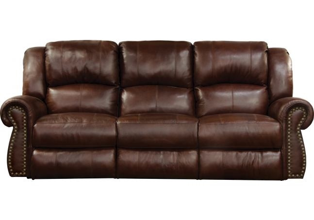 Catnapper Messina Power Headrest Lay Flat Reclining Sofa Throughout Titan Leather Power Reclining Sofas (View 12 of 15)