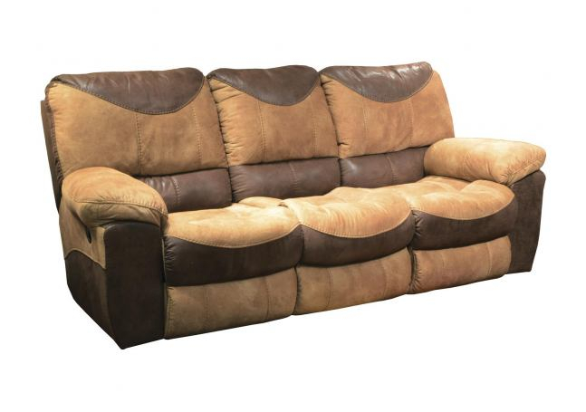 Catnapper Portman Power Reclining Sofa In Saddle Off For Titan Leather Power Reclining Sofas (View 10 of 15)