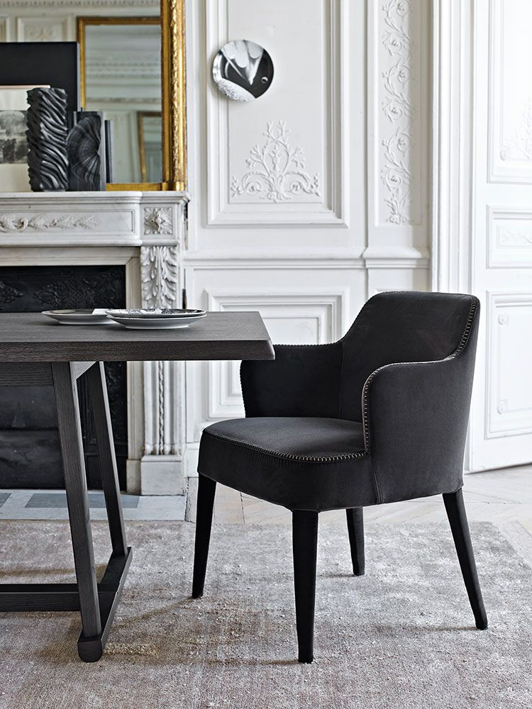 Chair: Febo – Collection: Maxalto – Design: Antonio Throughout Antonio Light Gray Leather Sofas (View 15 of 15)