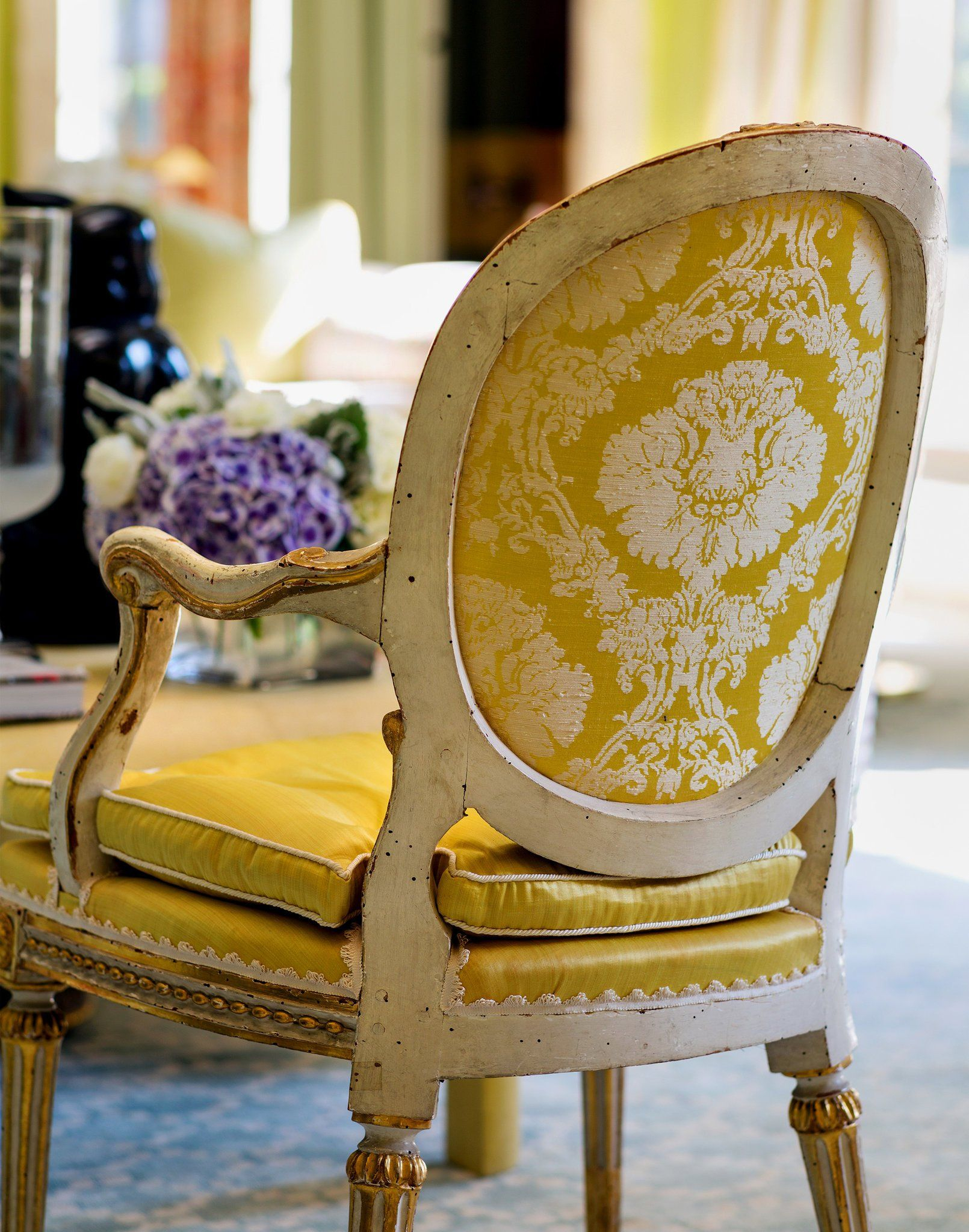 Chapter One: Chintz | Mario Buatta, Yellow Chair, Painted With Regard To Chintz Sofas And Chairs (View 12 of 15)