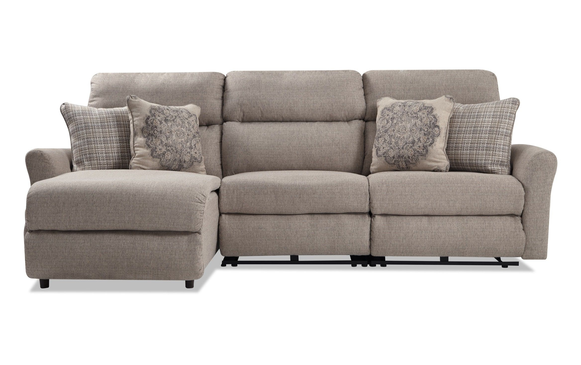 Charleston 3 Piece Right Arm Facing Power Reclining Regarding Charleston Triple Power Reclining Sofas (View 8 of 15)