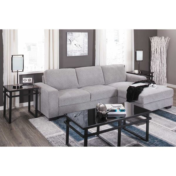 Charleston Light Gray 2 Piece Sectional In 2020 Throughout 2Pc Crowningshield Contemporary Chaise Sofas Light Gray (View 5 of 15)