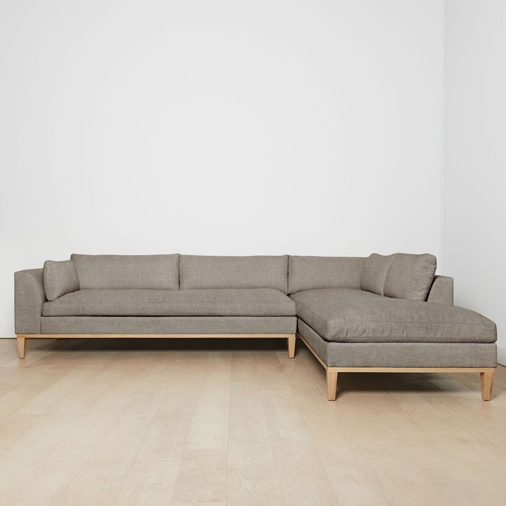 """Charleston Right Facing Sectional Sofa, Flannel 127""""L With Charleston Sofas (View 11 of 15)"""