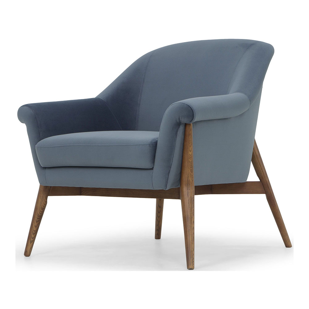 Charlize Armchair – Dusty Blue – Rouse Home With Regard To Brayson Chaise Sectional Sofas Dusty Blue (View 13 of 15)