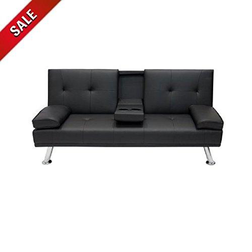 Cheap Sauder Studioedge Deshler Convertible Futon Sofa With Celine Sectional Futon Sofas With Storage Camel Faux Leather (View 3 of 15)