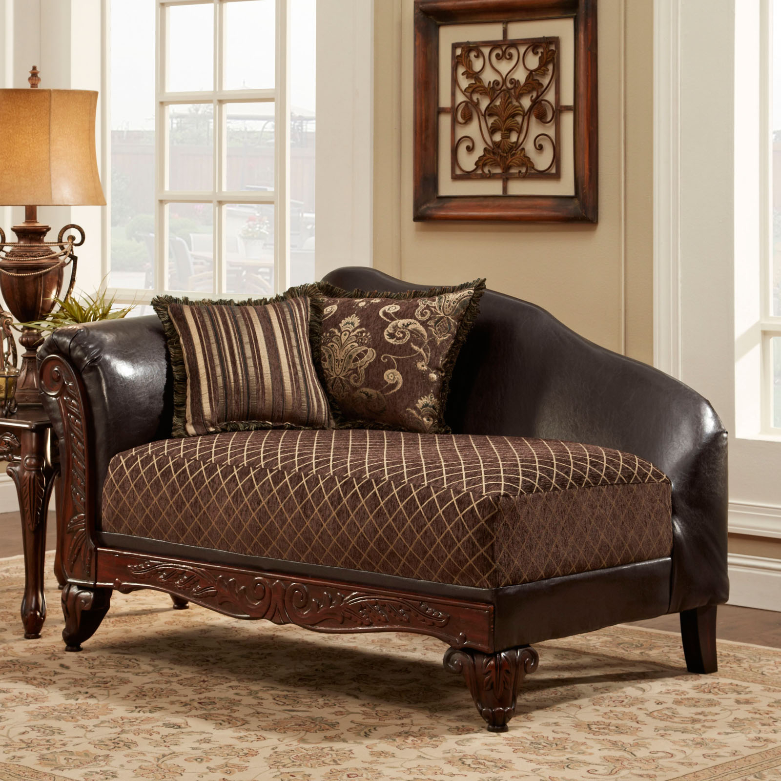 Chelsea Home Amelia Upholstered Chaise – Indoor Chaise For Sofa Chairs For Bedroom (View 5 of 15)