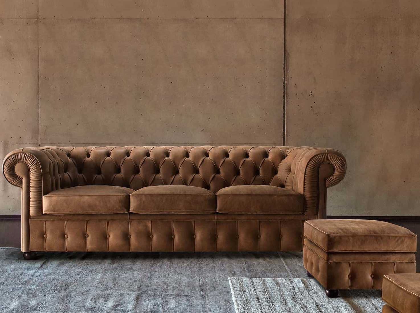 Chester Classic Leather Chesterfield Sofa – Diotti Regarding Chesterfield Sofas (View 10 of 15)