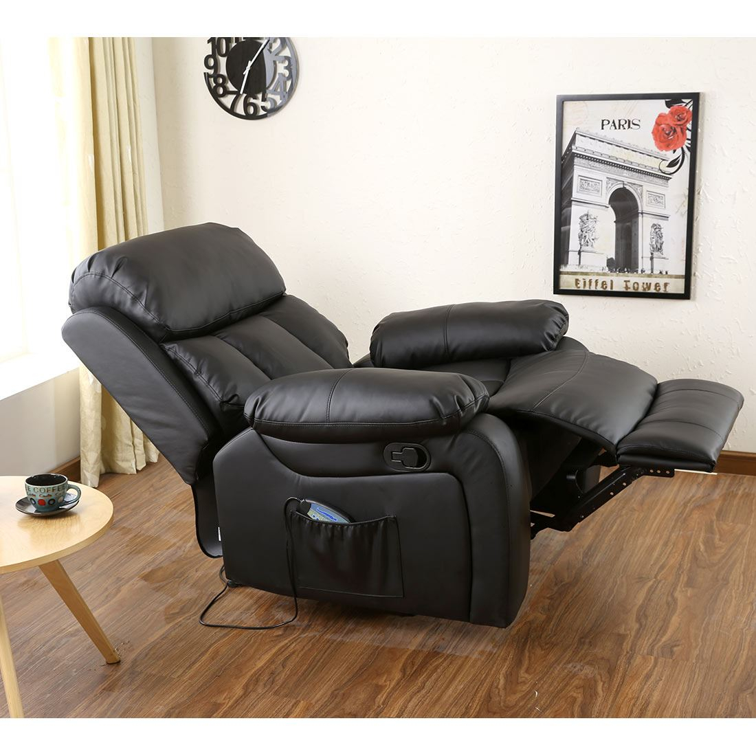 Chester Heated Leather Massage Recliner Chair Sofa Lounge Pertaining To Sofa Lounge Chairs (View 6 of 15)