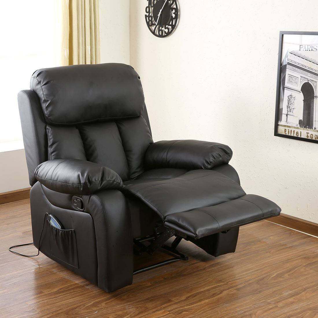 Chester Heated Leather Massage Recliner Chair Sofa Lounge With Regard To Sofa Lounge Chairs (View 3 of 15)