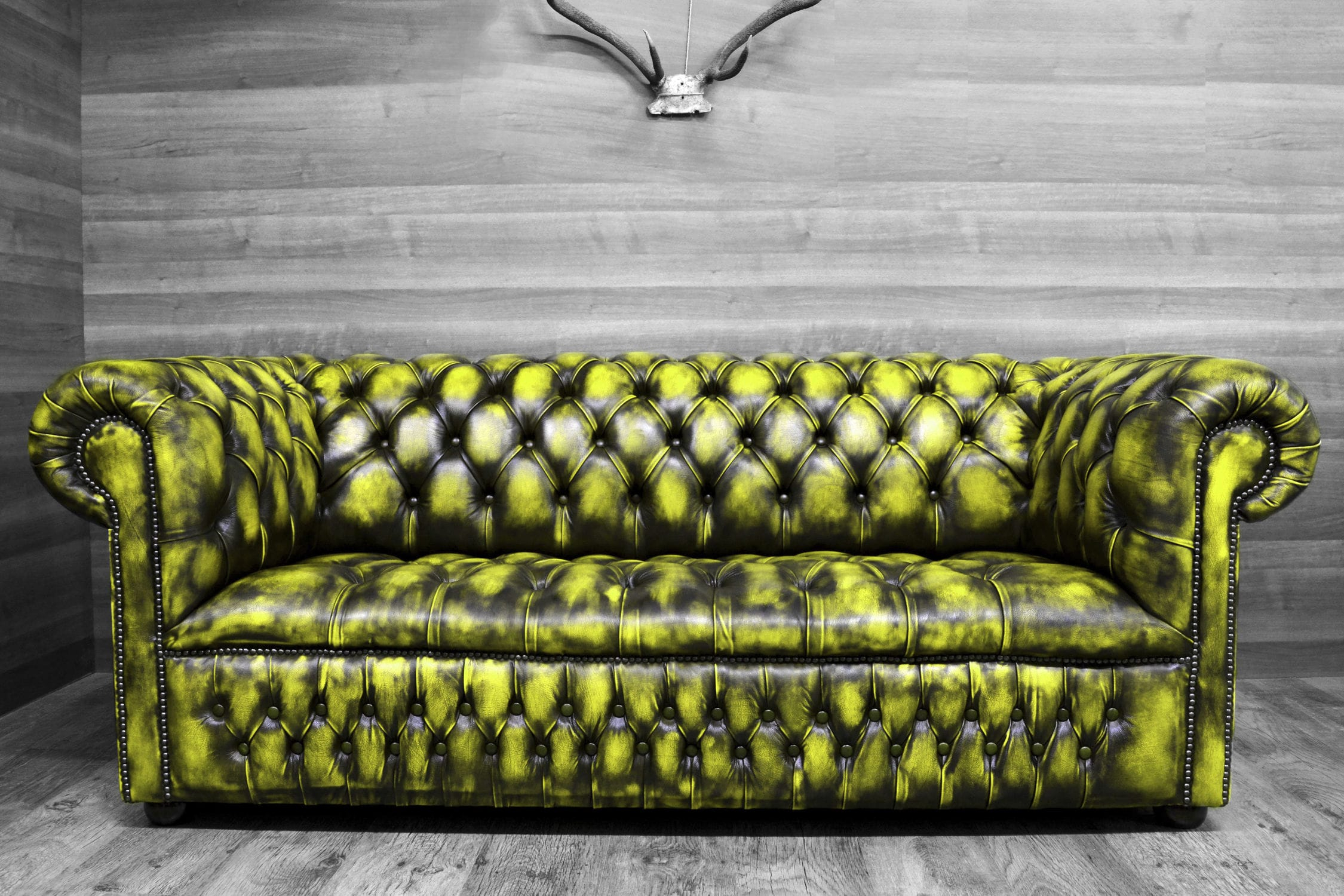 Chesterfield Sofa – Colors! – Harleq – Leather / 2 Person In Chesterfield Sofas (View 4 of 15)