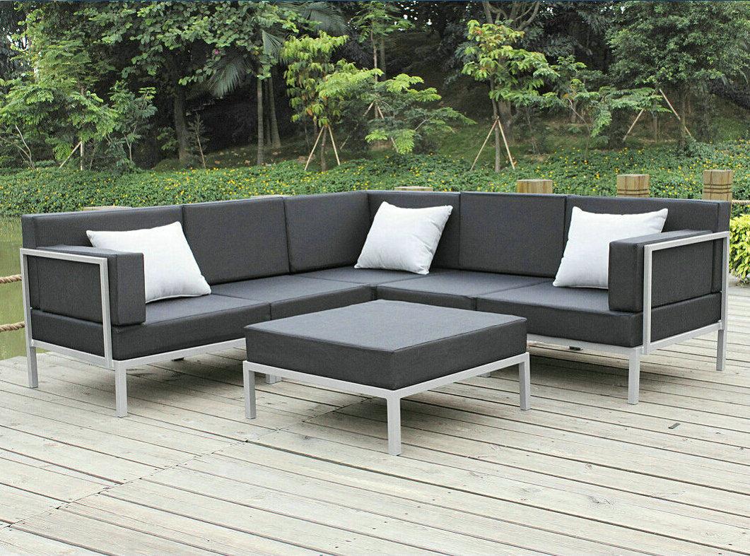 China Casual Selectional Metal Sofa Set Aluminum Outdoor Regarding Outdoor Sofa Chairs (View 7 of 15)