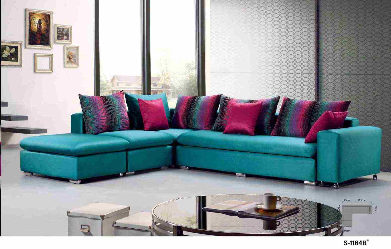 China Colorful Fabric Sofa (S 1164B) – China Sofa, Fabric Sofa Regarding Colorful Sofas And Chairs (View 10 of 15)