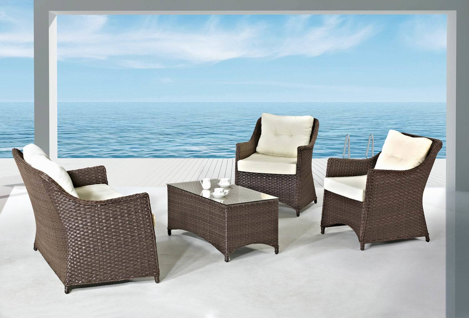 China Home Furniture Modern Outdoor Rattan/Wicker Sofa Within Outdoor Sofas And Chairs (View 14 of 15)