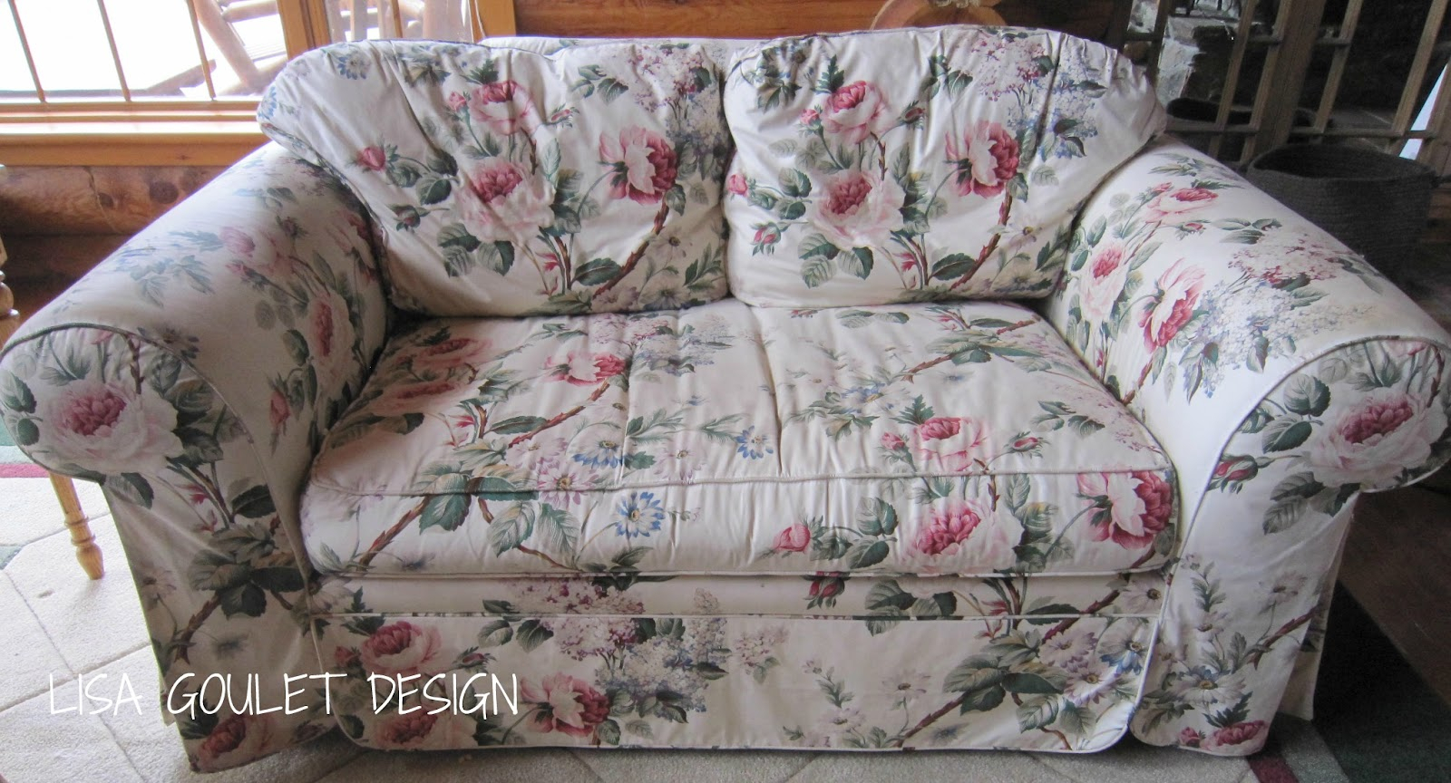 Chintz Gets A Make Under ~ Lisa Goulet Design Inside Chintz Floral Sofas (View 10 of 15)