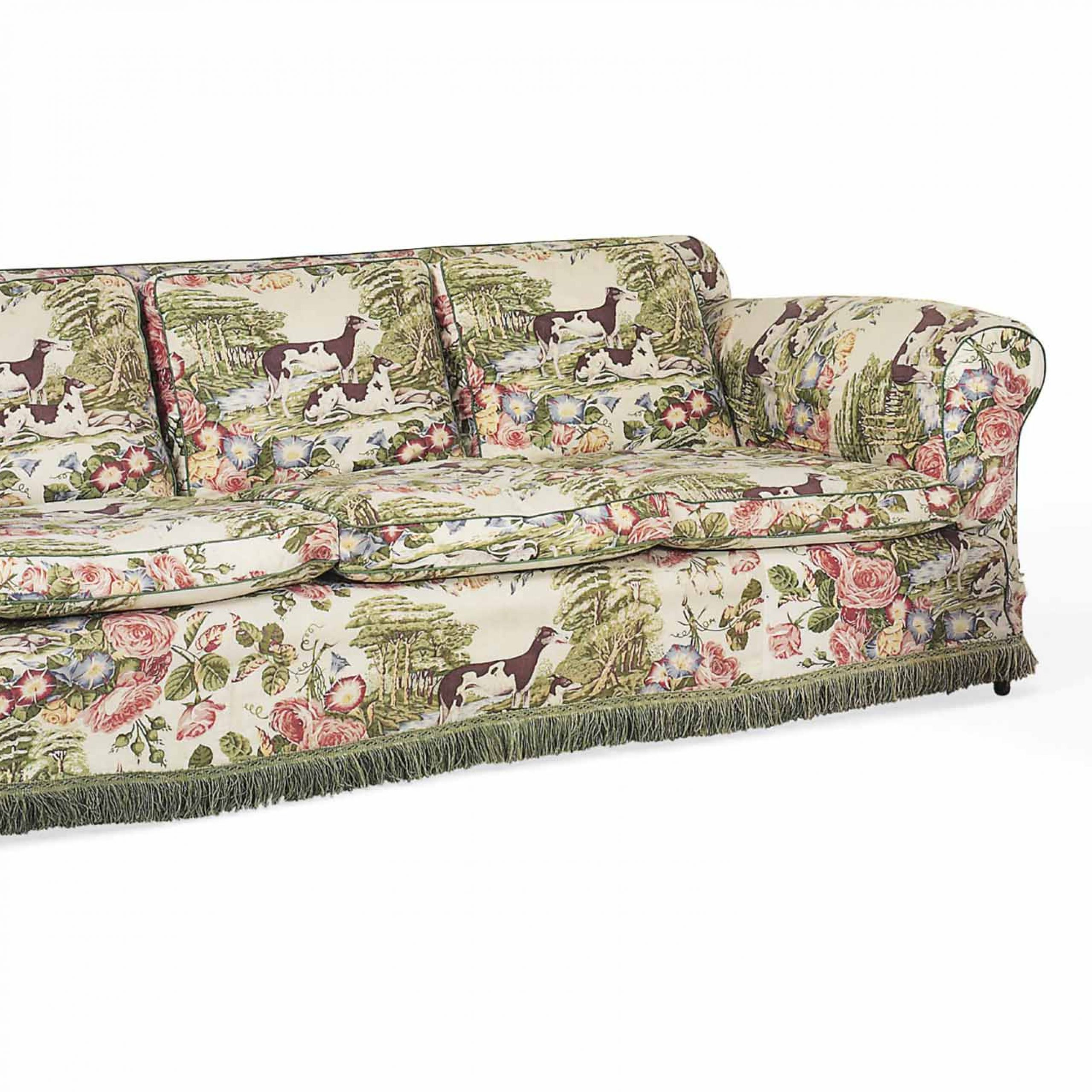Chintz Sofa Chintz Upholstered Sofa With Matching Chair Lg Intended For Chintz Covered Sofas (View 8 of 15)