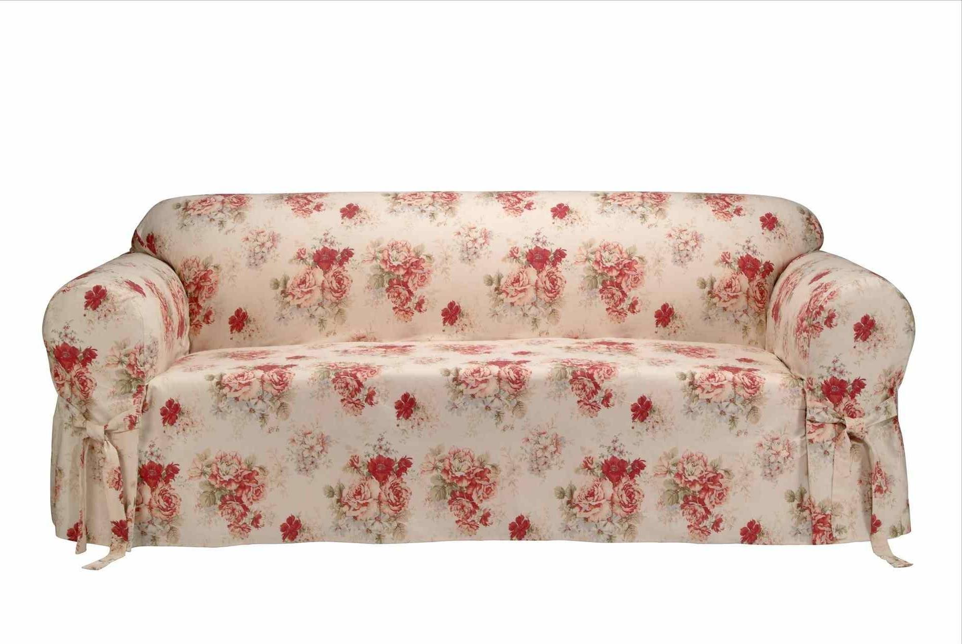Chintz Sofa Elegantes Sofa Couch Chintz Satin Goldfarbe Regarding Chintz Sofas (View 7 of 15)