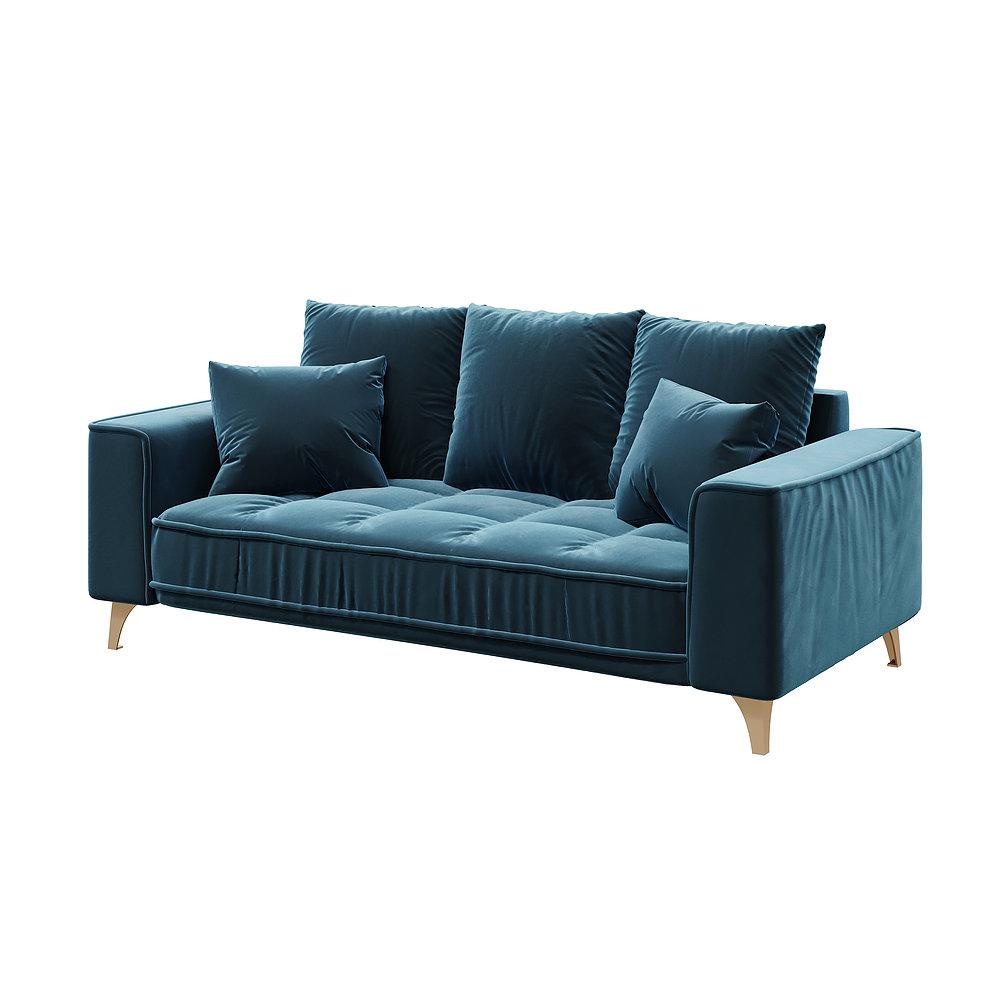 Chloe Dark Navy Blue 2,5 Seater Sofa   Devichy Sofas Regarding Dream Navy 2 Piece Modular Sofas (View 14 of 15)