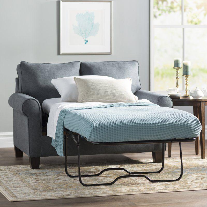 "Clay 58"" Sleeper Loveseat | Loveseat Sleeper, Twin Sleeper With Twin Sofa Chairs (View 11 of 15)"