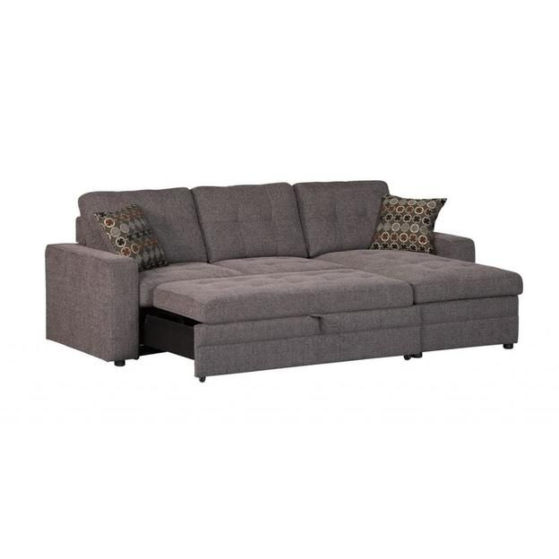 Coaster Coaster Gus Charcoal Chenille Upholstery Small Inside Hugo Chenille Upholstered Storage Sectional Futon Sofas (View 5 of 15)