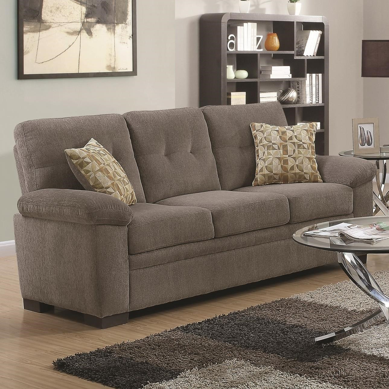 Coaster Fairbairn Sofa With Casual Style | A1 Furniture In Casual Sofas And Chairs (View 6 of 15)