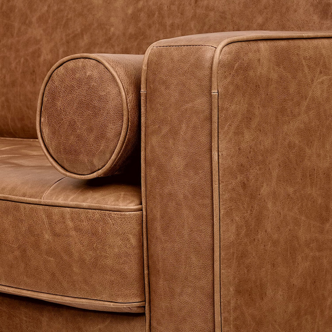 Cognac Leather Modern Couch Leather Couch Brown Mid With Regard To Florence Mid Century Modern Right Sectional Sofas Cognac Tan (View 12 of 15)