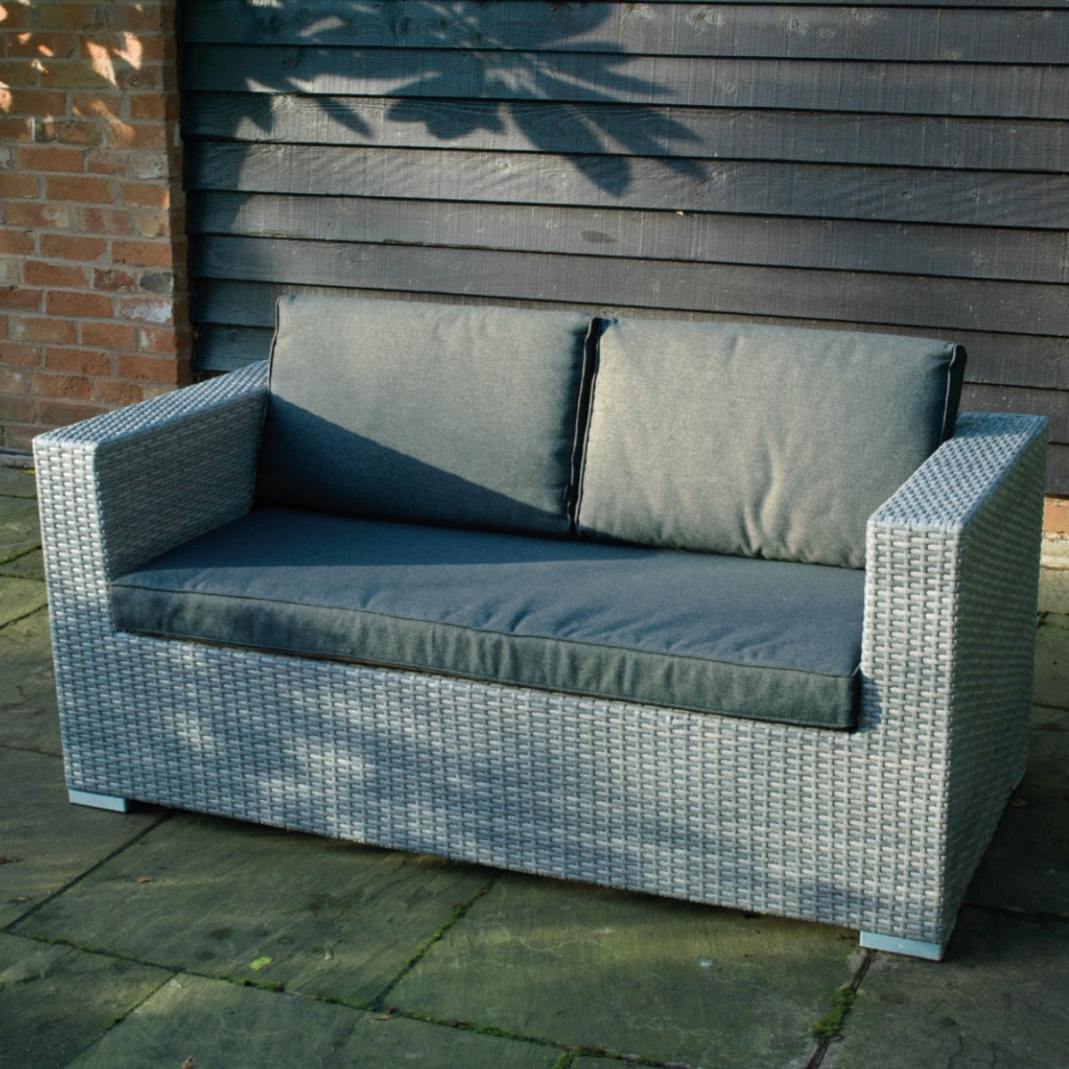 Cologne Rattan 2 Seater Sofa | Woodberry With Two Seater Sofas (View 11 of 15)