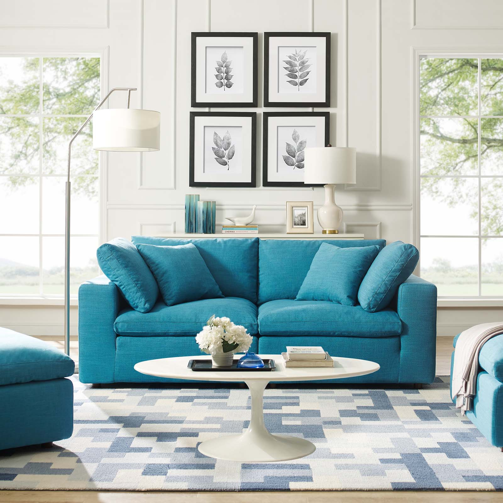 Commix Down Filled Overstuffed 2 Piece Sectional Sofa Set With Regard To Down Filled Sectional Sofas (View 1 of 15)