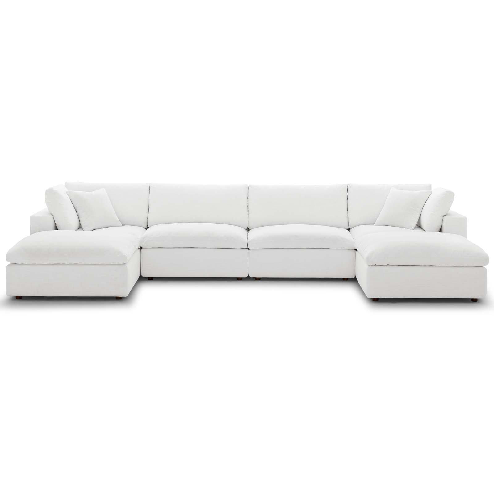 Commix Down Filled Overstuffed 6 Piece Sectional Sofa Set With Regard To Down Filled Sofas (View 5 of 15)