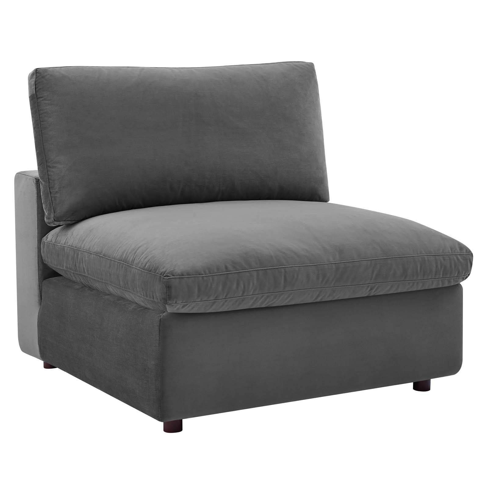 Commix Down Filled Overstuffed Performance Velvet Armless For Overstuffed Sofas And Chairs (View 2 of 15)