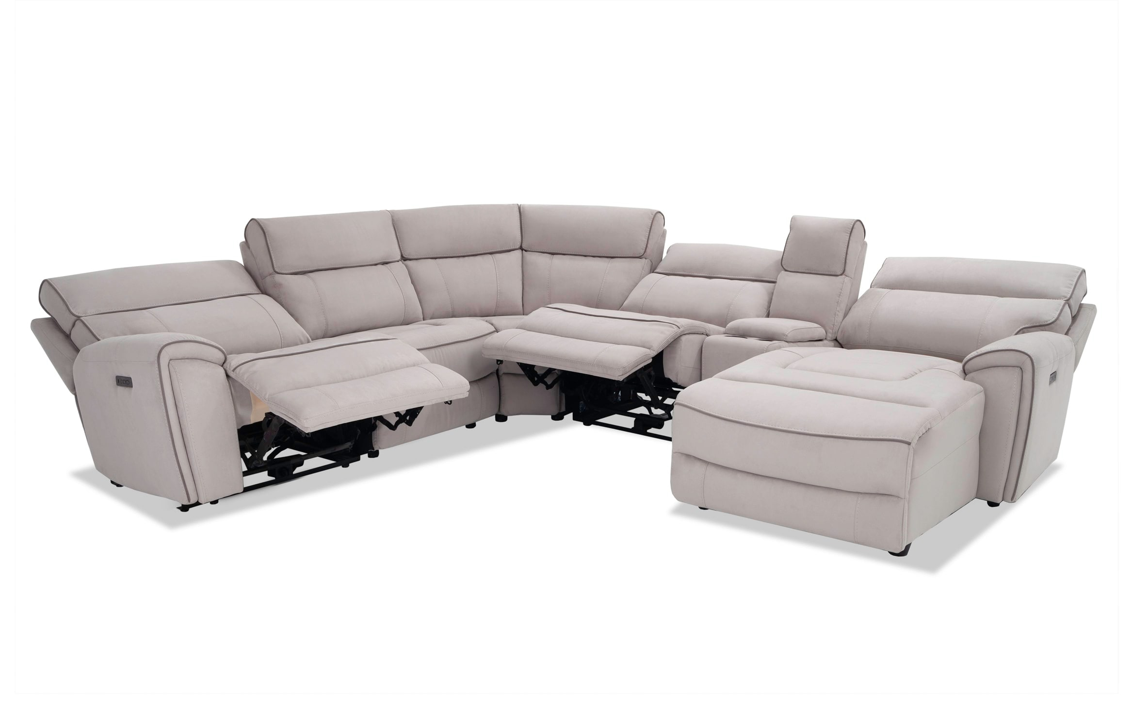 Contempo 6 Piece Power Reclining Left Arm Facing Sectional Regarding Contempo Power Reclining Sofas (View 5 of 15)
