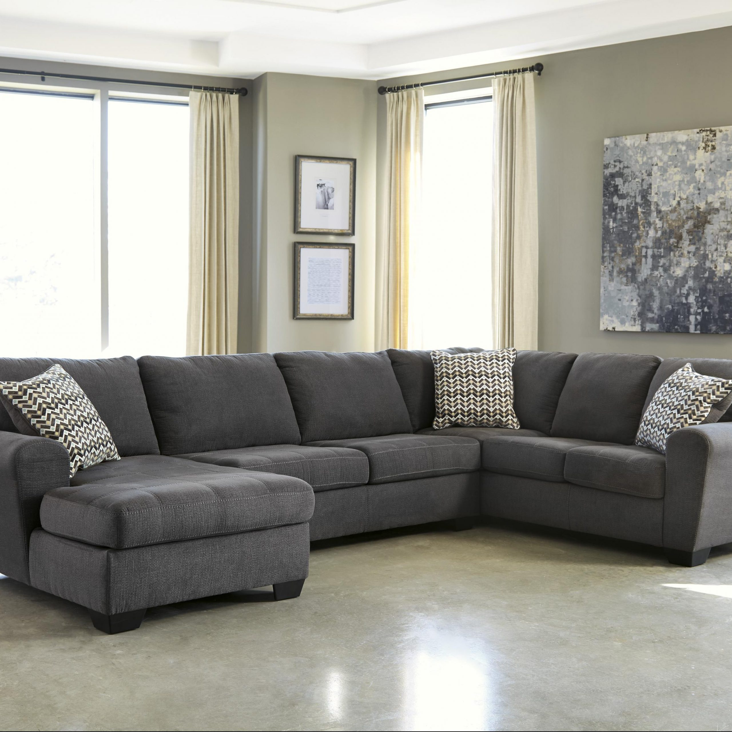 Contemporary 3 Piece Sectional With Left Chaise Throughout 4Pc Crowningshield Contemporary Chaise Sectional Sofas (View 12 of 15)