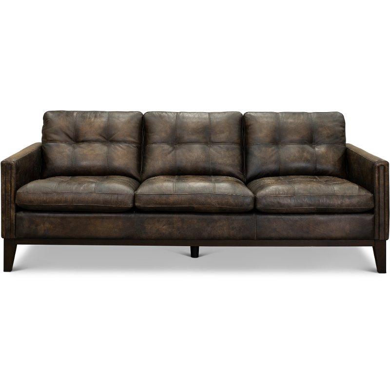 Contemporary Antique Brown Leather Sofa – Montana | Rc Inside Montana Sofas (View 10 of 15)