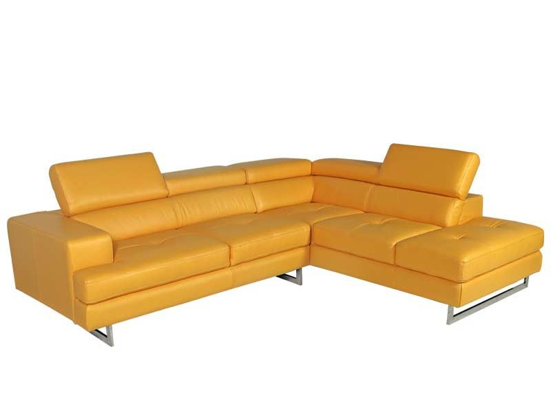 Contemporary Bari Sectional Sofa | Contemporary Leather Inside Yellow Sofa Chairs (View 14 of 15)